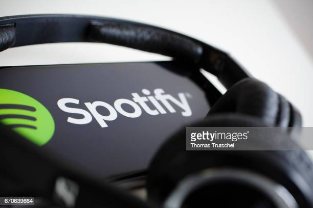 The logo of the music streaming service Spotify is displayed on a smartphone on April 20 2017 in Berlin Germany