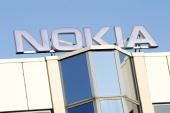The logo of the Nokia plant is pictured on February 10 2008 in Bochum Germany Mobile telephone giant Nokia plans to close it's factory in Bochum...