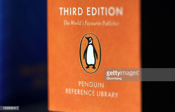 The logo of the Penguin publishing house part of Pearson Plc is seen on a reference book at a bookstore in London UK on Wednesday Oct 3 2012 Pearson...