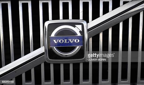 The logo of the Swedish car manufacturer 'Volvo' is pictured on a car on October 1 2008 in Gothenburg southwestern Sweden AFP PHOTO / OLIVIER MORIN