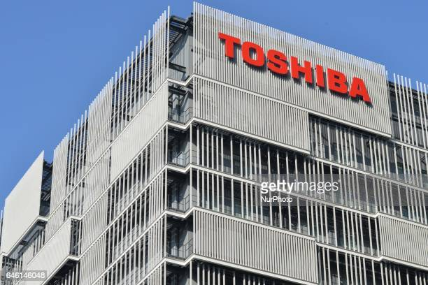The logo of Toshiba Corp is seen at the company's facility in Kawasaki south of Tokyo Japan February 28 2017 Toshiba Corp faces longer screening over...