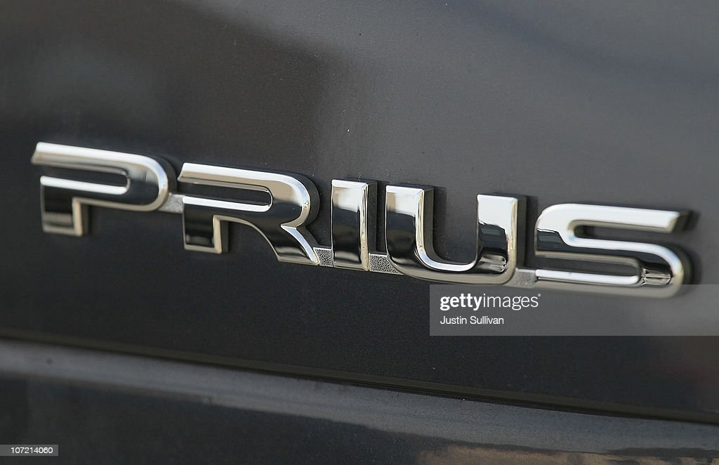 The logo to a Toyota Prius hybrid is seen on the sales lot at City Toyota on November 30, 2010 in Daly City, California. Toyota Motor Corp. is issuing a recall for 650,000 Toyota Prius hybrids to repair cooling pumps that could fail and cause the vehicle to overheat and lose power.