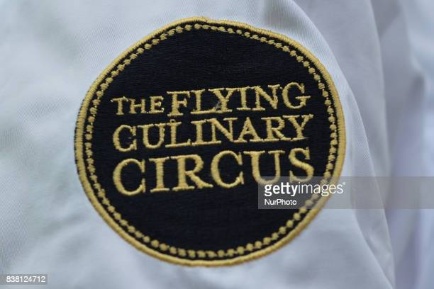 The logoof the world Famous Flying Culinary Circus On Wednesday August 9 in Engenes Andorja Island Norway