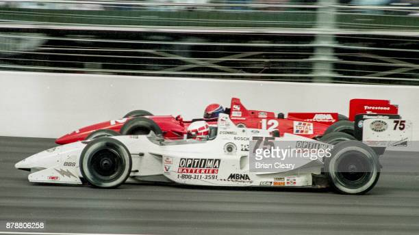 The Lola Cosworth of Johnny O'Connell drives on the track during the Indy 200 Indy Racing League IRL race at Walt Disney World Speedway Speedway on...