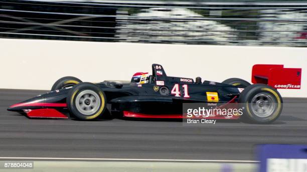 The Lola Cosworth of Scott Sharp drives on the track during the Indy 200 Indy Racing League IRL race at Walt Disney World Speedway Speedway on...