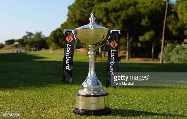 The Lombard Trophy on the 1st tee during The Lombard Trophy Final Day One on September 21 2017 in Albufeira Portugal