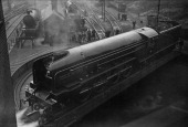 The London and North Eastern Railway Class P2 locomotive No 2001 Cock o' The North on the turntable at King's Cross Station London 1st June 1934 The...