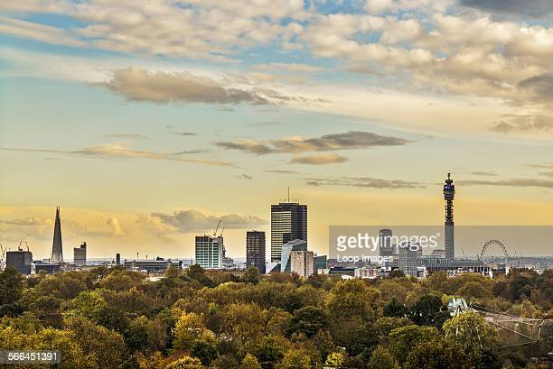 The London Autumn skyline from Primrose Hill