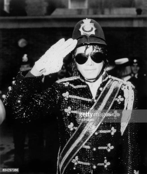 The London bobby's helmet is a hit with pop superstar Michael Jackson even if his own 'uniform' is rather more colourful He tried on the local...