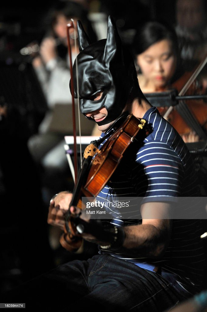 The London Chamber Orchestra rehearse a medley of Hans Zimmer film scores, including 'The Dark Knight Rises' for the Classic BRIT Awards, on October 1, 2013 in London, England. Hans Zimmer will receive the Outstanding Contribution Award during the ceremony to be held at the Royal Albert Hall on October 2, 2013.