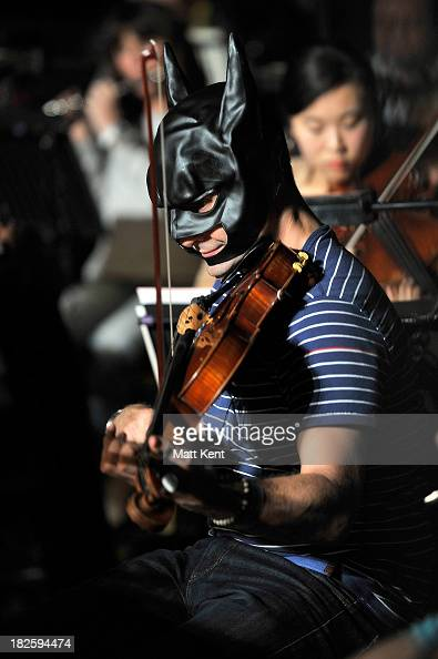 The London Chamber Orchestra rehearse a medley of Hans Zimmer film scores including 'The Dark Knight Rises' for the Classic BRIT Awards on October 1...