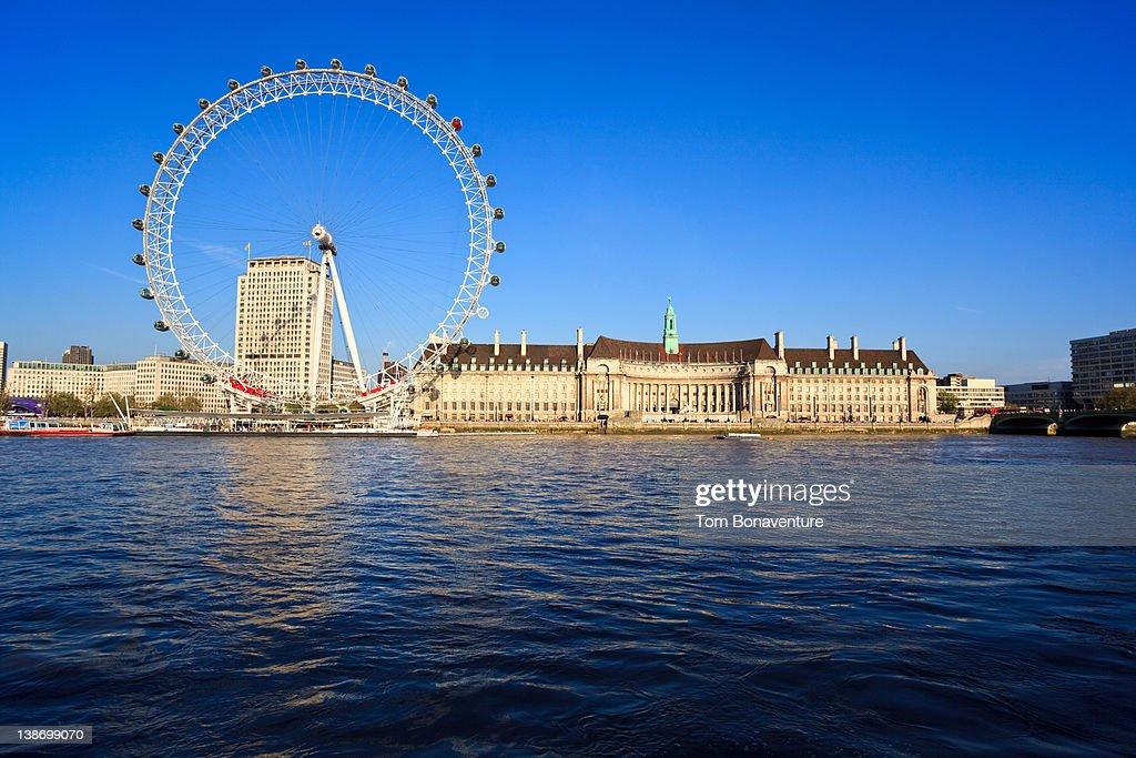 The London Eye across the River Thames