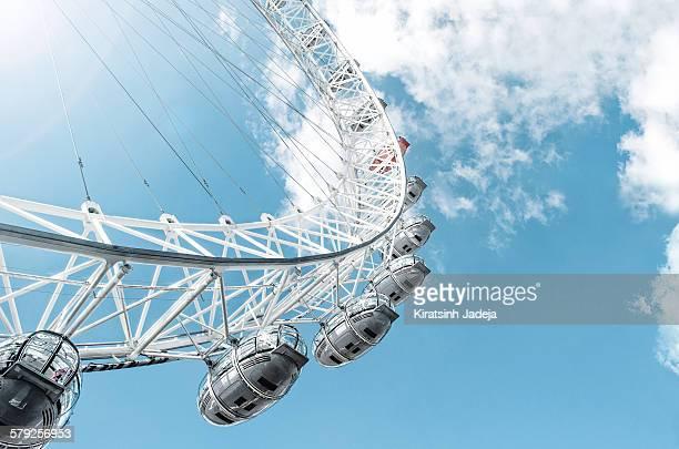 The London Eye in summer