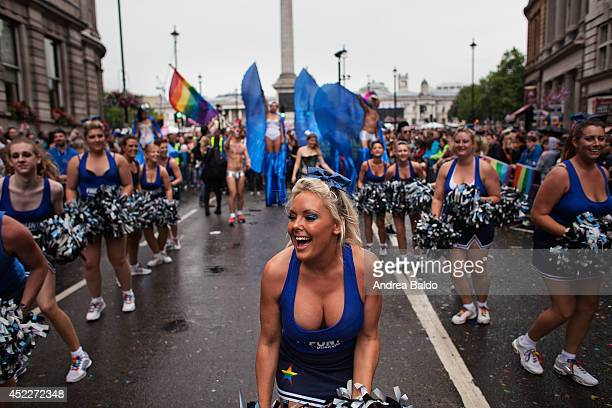 The London Pride 2014 parade marched through the streets of central London celebrating the diversity of the LGBT community