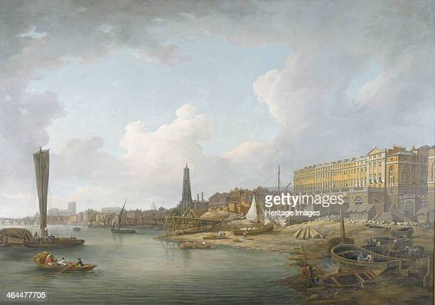 'The London Riverfront between Westminster and the Adelphi' c1771 The Thames river traffic and riverside buildings viewed from the site of the...