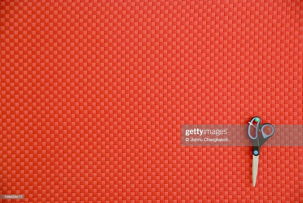 The lonely scissor : Stock Photo