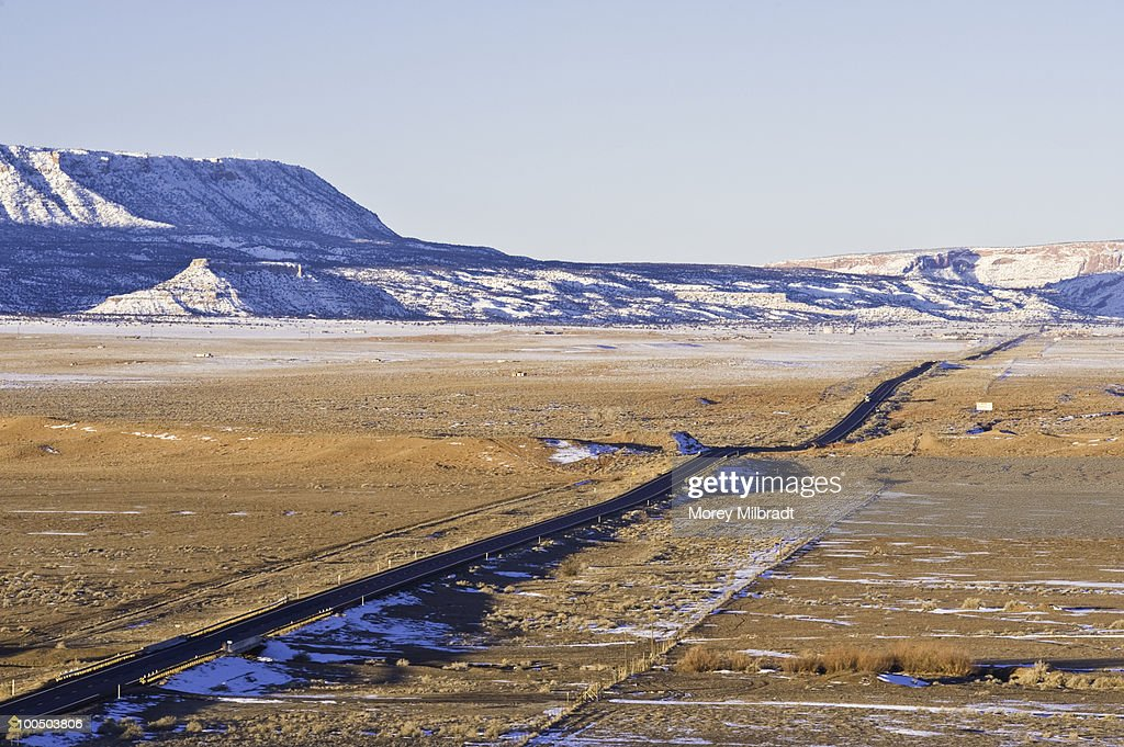 The long road. : Stock Photo