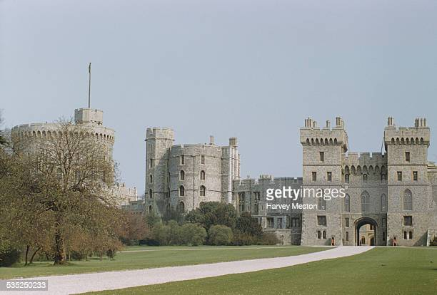 The Long Walk leading to the South Wing of Windsor Castle Berkshire England circa 1960
