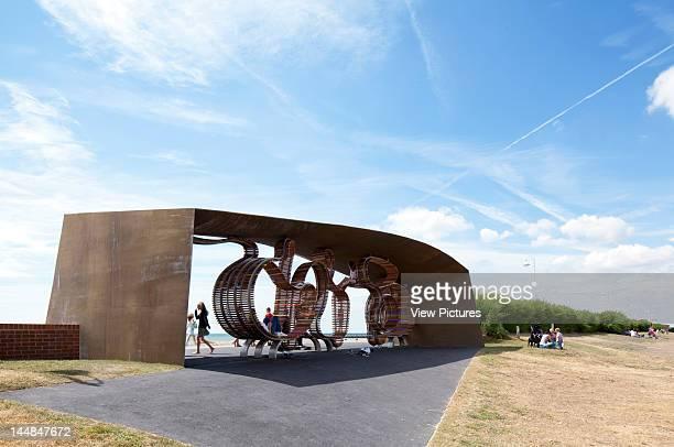 The Longest Bench The Promenade Sea Road Littlehampton West Sussex United Kingdom Architect Studio Weave The Longest Bench Shelter With Children...