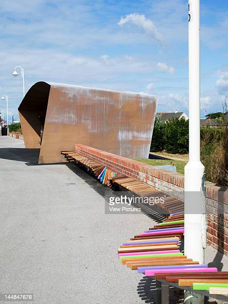 The Longest Bench The Promenade Sea Road Littlehampton West Sussex United Kingdom Architect Studio Weave The Longest Bench Shelter Detail Of Seating...