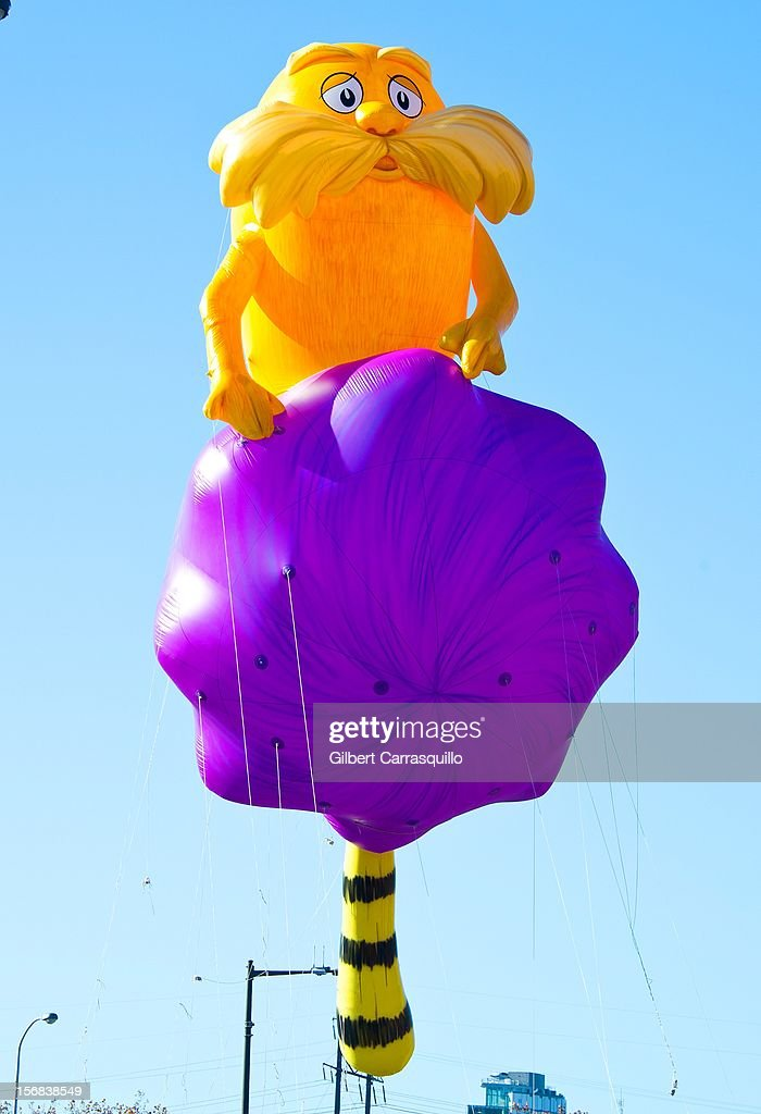 The Lorax balloon at the 93rd annual Dunkin' Donuts Thanksgiving Day Parade on November 22, 2012 in Philadelphia, Pennsylvania.