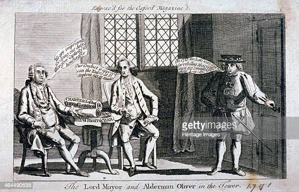 The Lord Mayor [Brass Crosby] and Alderman Oliver imprisoned in the Tower of London 1771 Crosby and Oliver clashed with Parliament over the...