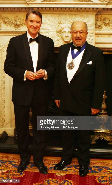 The Lord Mayor of the City of London Alderman Ian Luder and the Business Secretary Lord Mandelson attend the annual Trade and Industry Dinner at...