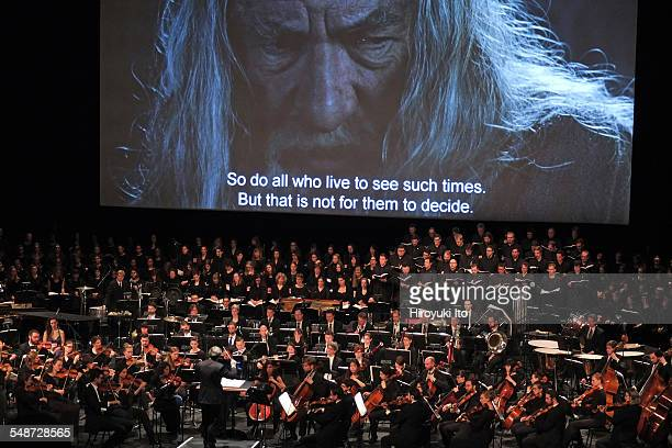 'The Lord of the Rings in Concert' at David H Koch Theater on Tuesday night April 7 2015'The Fellowship of the Ring' was screened with live music...