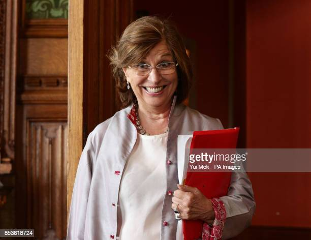 The Lord Speaker Baroness D'Souza arrives before her meeting with Chinese Premier Li Keqiang in the River Room during his visit to the House of Lords...