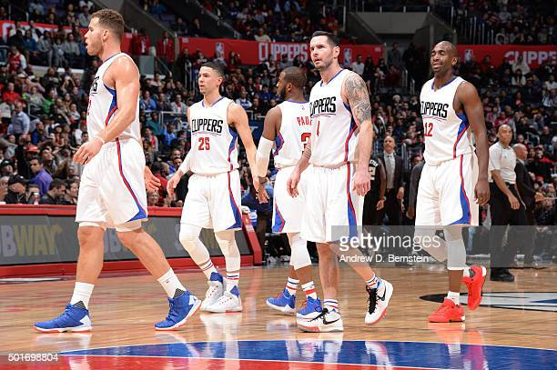 The Los Angeles Clippers during the game against the Milwaukee Bucks on December 16 2015 at STAPLES Center in Los Angeles California NOTE TO USER...