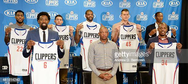The Los Angeles Clippers introduce their free agent signings at STAPLES Center on July 21 2015 in Los Angeles California NOTE TO USER User expressly...