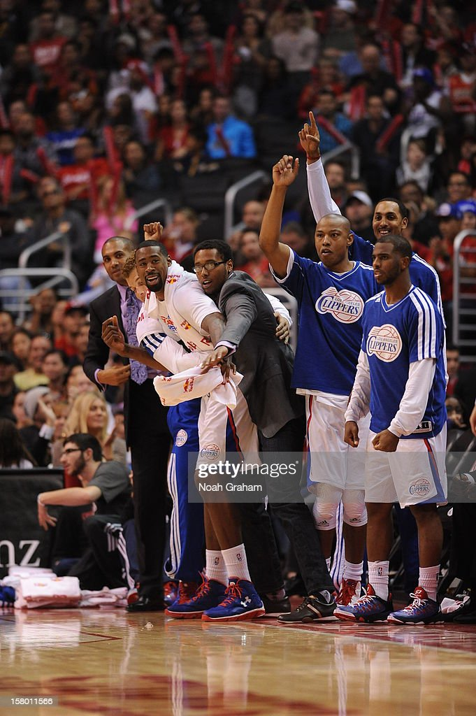 The Los Angeles Clippers react in a game against the Phoenix Suns at Staples Center on December 8, 2012 in Los Angeles, California.