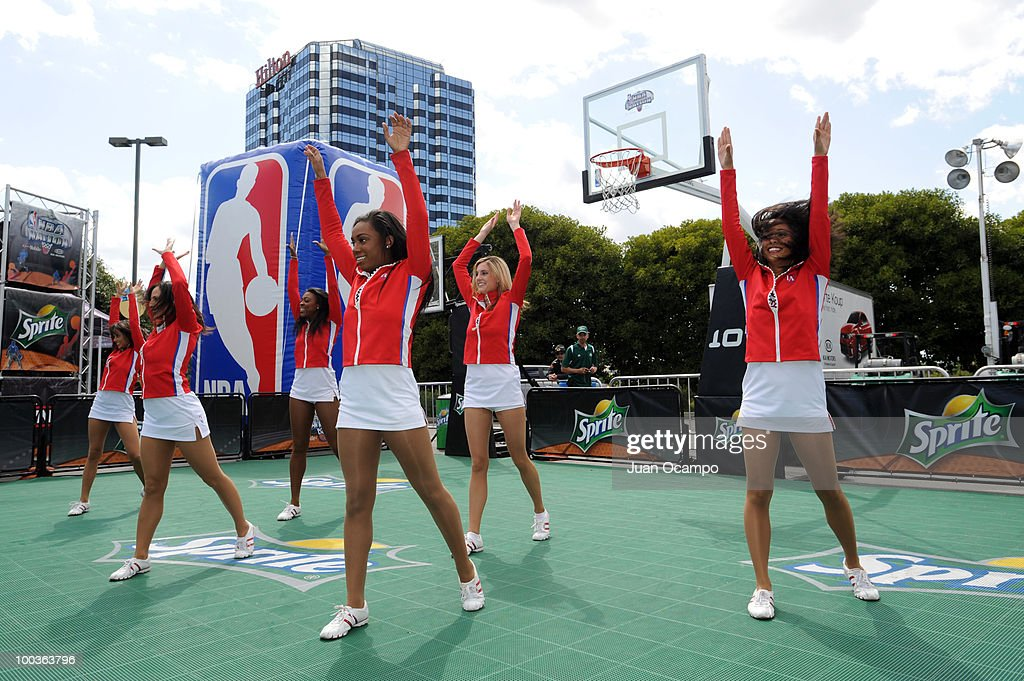 The Los Angeles Clippers Spirit perform during the NBA Nation Tour on May 23, 2010 at Universal City Walk in Universal City, California.
