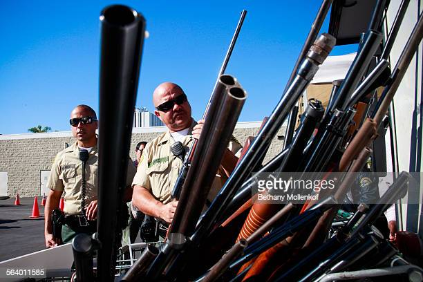 The Los Angeles County Sheriff's Department hosted ``Gifts for Guns'' in Compton where participants who surrendered any firearms received a gift card...