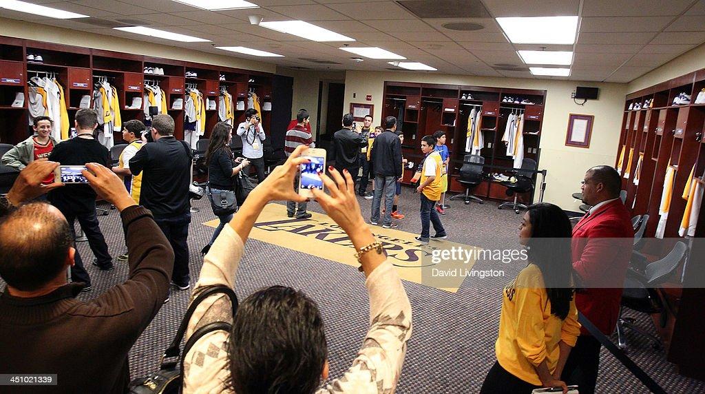 Lakers Locker Room Staples All Access