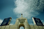 The Los Angeles Memorial Coliseum is seen in Los Angeles on July 30 2015 the Coliseum will be renovated and used as the main stadium if the city...