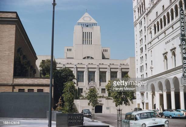 The Los Angeles Public Library South Entrance Los Angeles California circa 1960