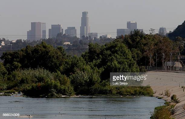 The Los Angeles River bends around Griffith Park towards downtown LA The Army Corps of Engineers is conducting a study on the feasability of...