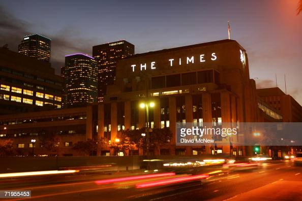 The Los Angeles Times building is seen on the eve of a board meeting of Tribune Co directors that could decide the fate of the newspaper as a...