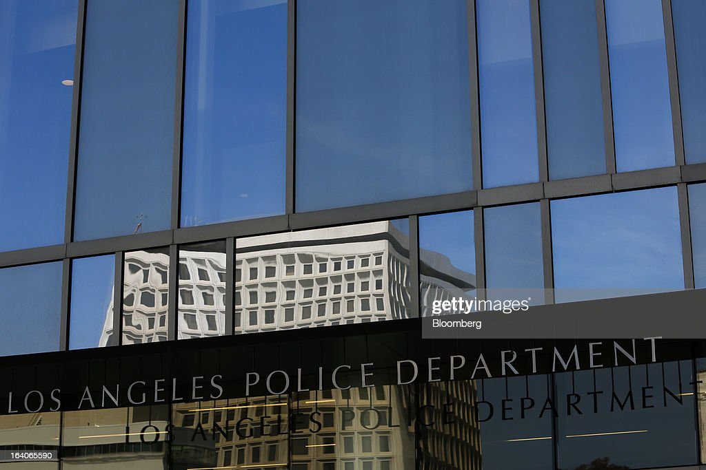 The Los Angles Police Department (LAPD) headquarters stands in Los Angeles, California, U.S., on Thursday, March 14, 2013. California should start a state-run bank to finance economic development that's less polluting and more environmentally friendly, financed by auctions of greenhouse-gas carbon credits, Lieutenant Governor Gavin Newsom said. Photographer: Patrick T. Fallon/Bloomberg via Getty Images