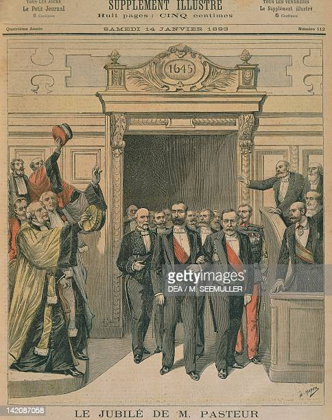 The Louis Pasteur's Jubilee at the Sorbonne in Paris Illustration from the Petit Journal 14th January 1893