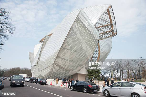 The Louis Vuitton foundation by Architect Frank Gehry on day 9 of Paris Collections Women on March 11 2015 in Paris France