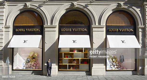 The Louis Vuitton store in Florence Italy is in the historic Piazza degli Strozzi The luxury brand is known for its signature monogrammed handbags...