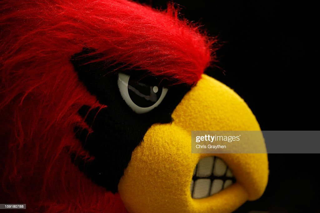 The Louisville Cardinals mascot is seen during the Allstate Sugar Bowl against the Florida Gators at Mercedes-Benz Superdome on January 2, 2013 in New Orleans, Louisiana.