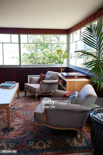 SWANSEA TASMANIA AUSTRALIA The lounge at Craigie Knowe a 1842built stone farm house and vineyard converted into luxury villa accommodation in Swansea...