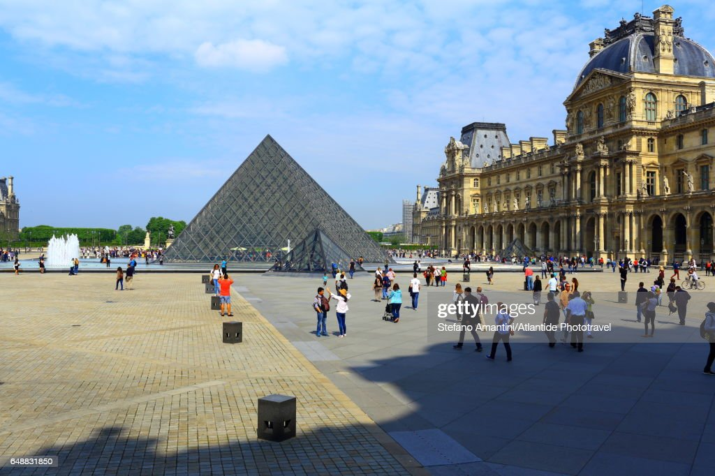 The Louvre, the pyramid : Foto stock