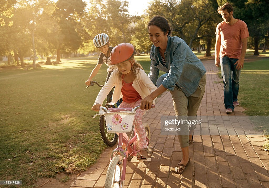The love coming to the park : Stock Photo