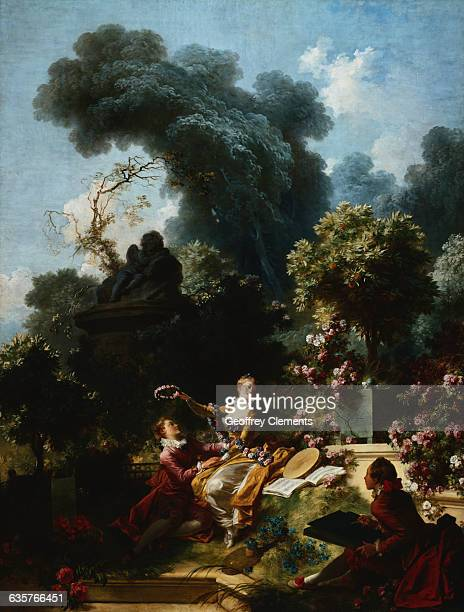 The Lover Crowned from the Progress of Love Series by Jean Honore Fragonard