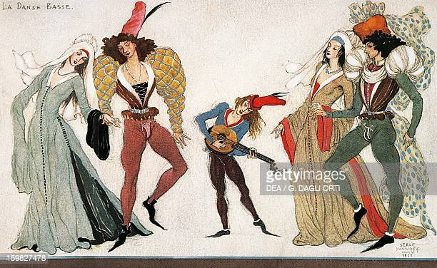 The low dance or basse dance French court dance 15th century Paris Musée Des Arts Decoratifs