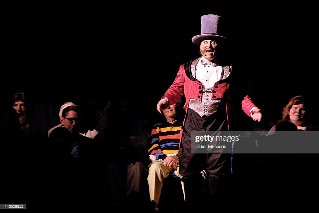 The Loyal Whistler in his role as a Ringmaster during the Belgian premiere of the Cirque du Soleil show Corteo on June 13, 2012 in Antwerpen, Belgium.